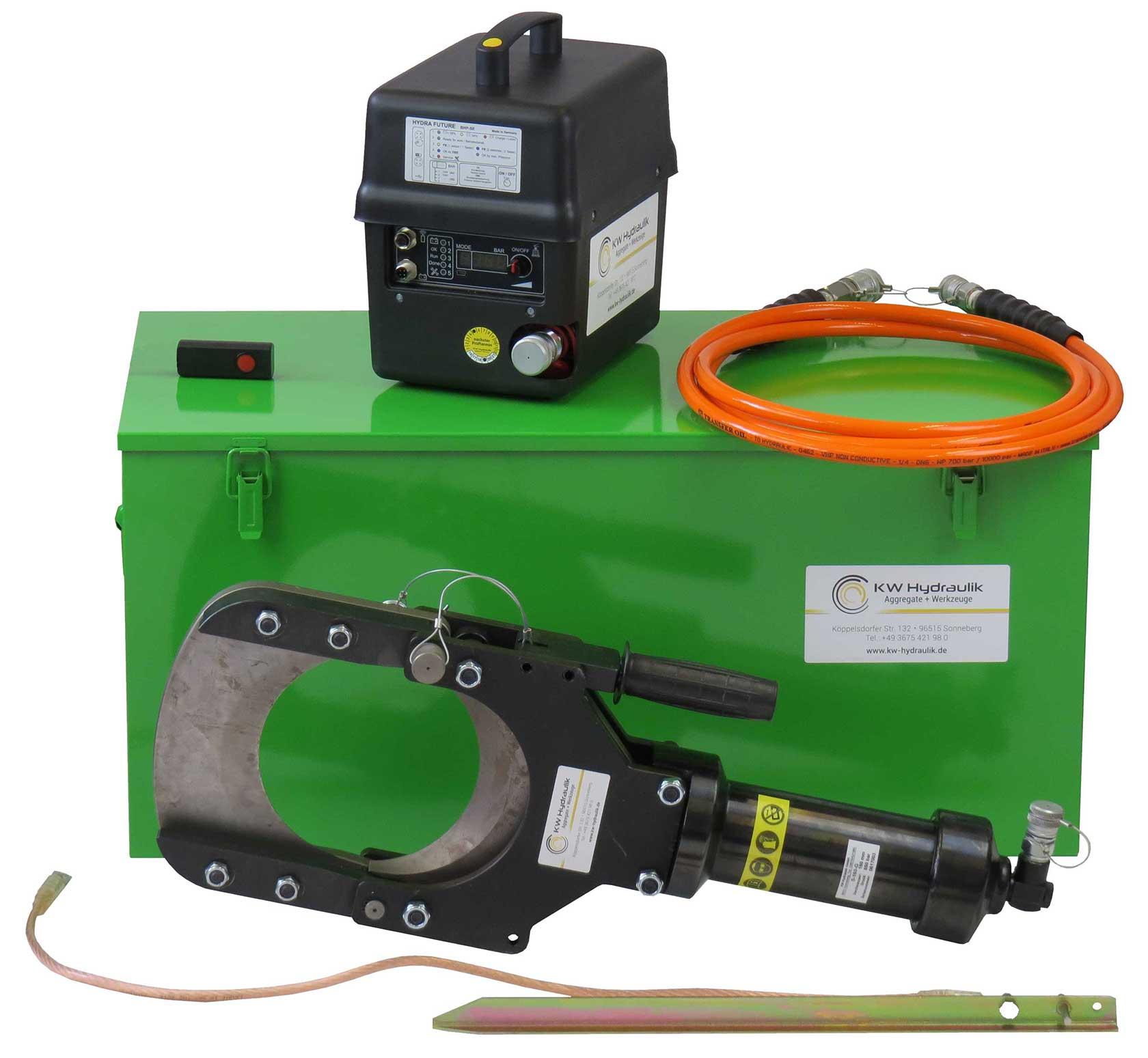 Akku Hochdruck Hydraulikpumpe für autarke Arbeiten mit Hydraulik Werkzeugen